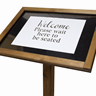 Image of Wooden Sign Stands