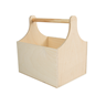 Image of Wooden Curved Trug with Shoulders - Large