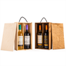 Image of Two Bottle Sliding Lid Wine Box