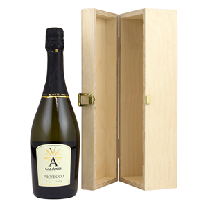 Image of One Bottle Hinged Wooden Wine Box