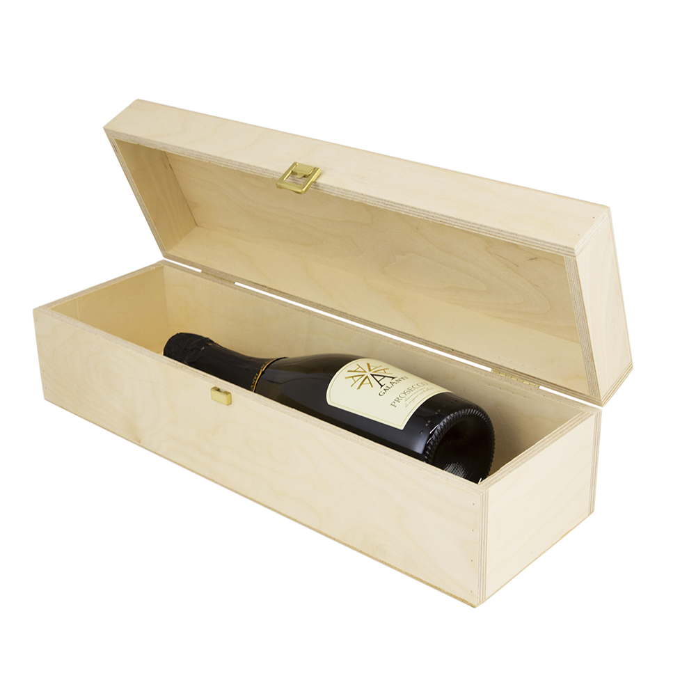Magnum hinged wooden wine box woodenboxuk for Empty wine crates
