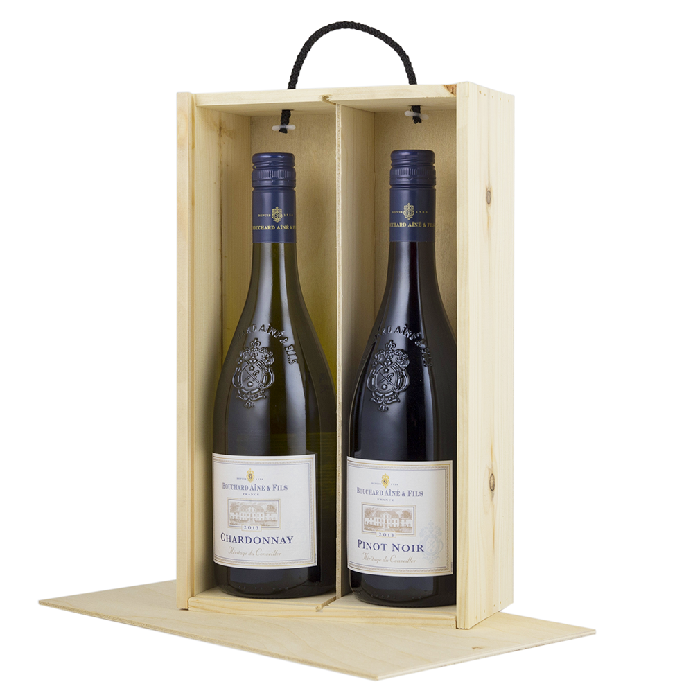 Two bottle sliding lid woodenboxuk for Empty wine crates