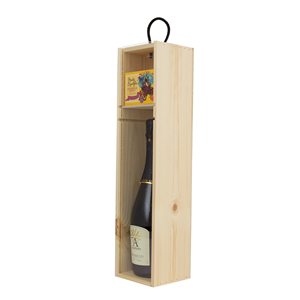 Image of One bottle Sliding Acrylic Lid Wine Box with Shelf