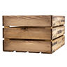 Image of Apple & Pears Printed Large Wooden Crate