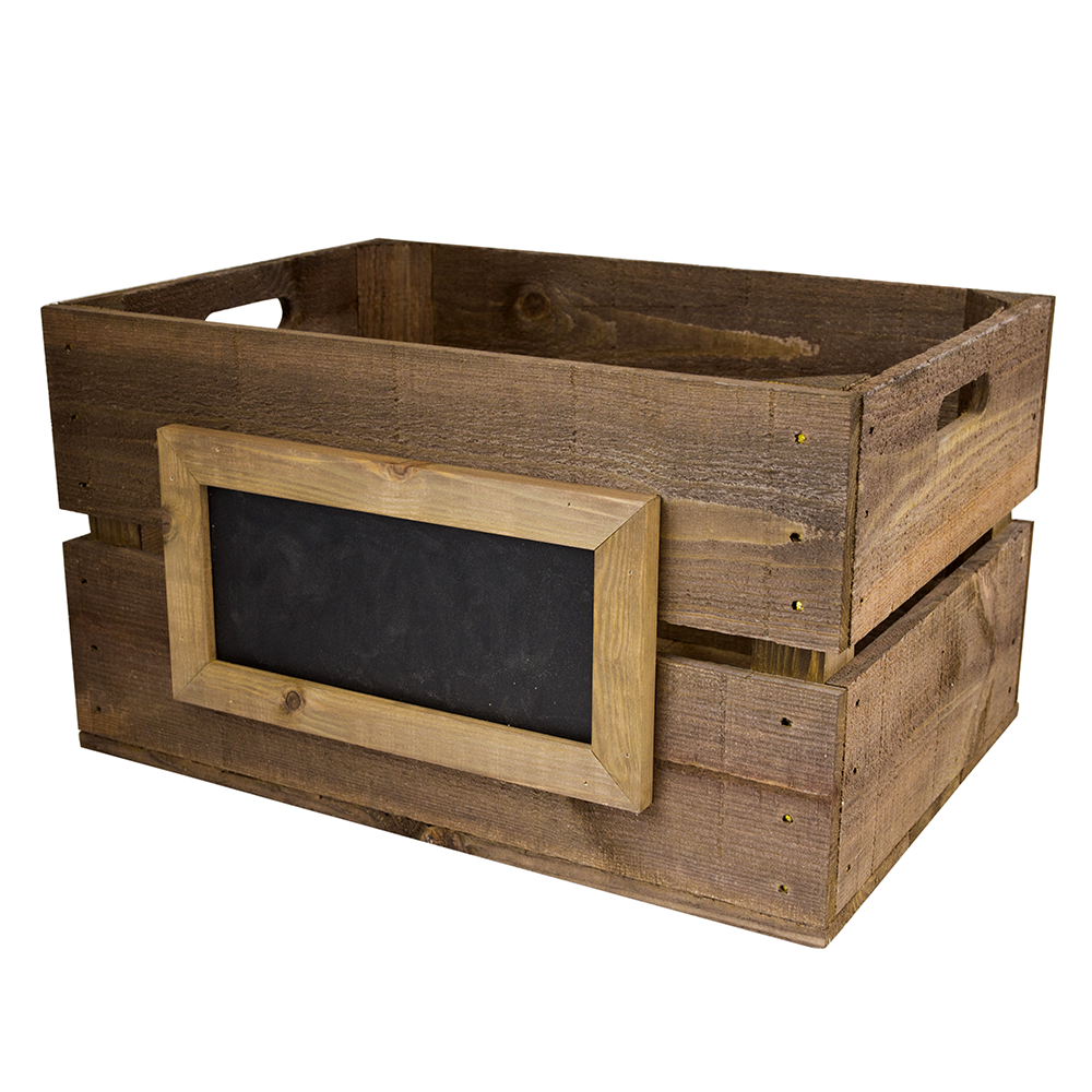 Large Wooden Crate With Chalkboard Woodenboxuk