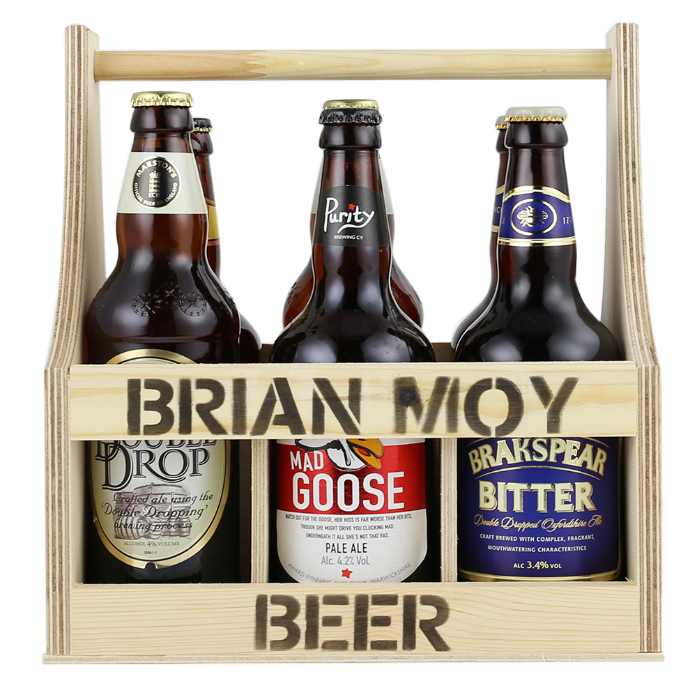 6 Beer Bottle 500ml Carrier Woodenboxuk