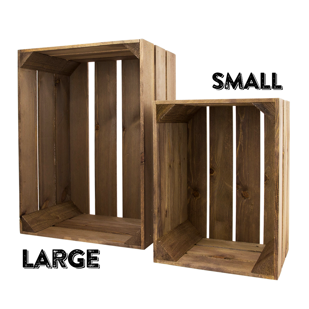 image of small rustic wooden crates - Small Wooden Crates