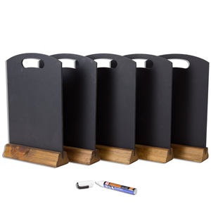 Image of A4 Table Chalkboards - Pack of 5 with Chalk Pen