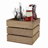 Image of Square Crate Wooden Condiment Holder
