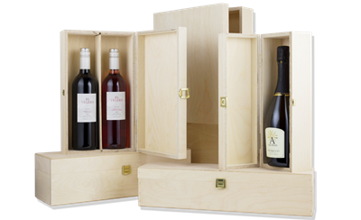 Hinged Wine Boxes