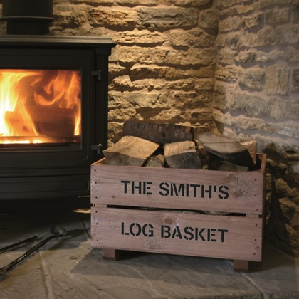 Image of Personalised Wooden Log Crate