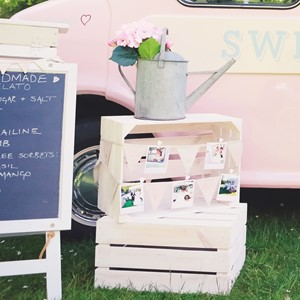 Image of Shabby Chic White Rustic Crate