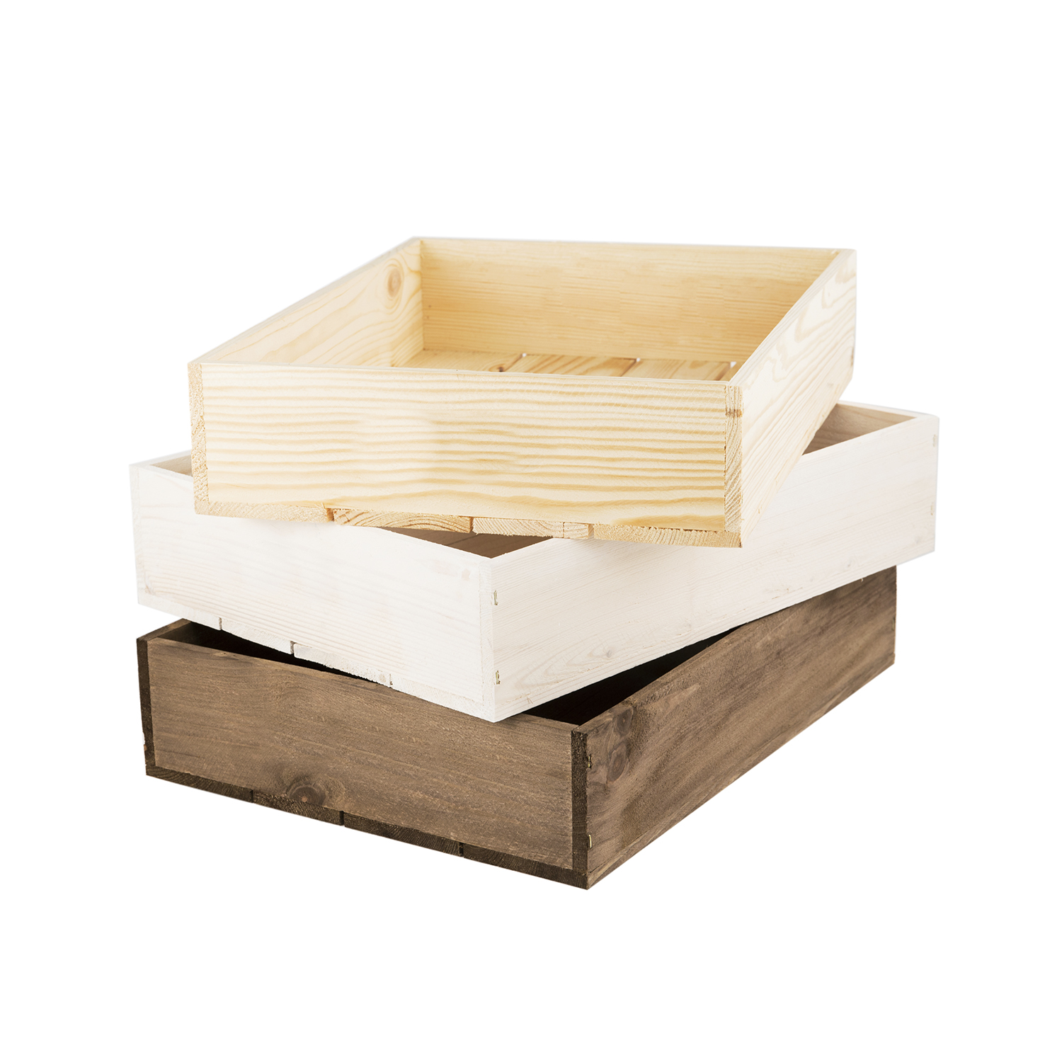 Small rustic wooden seeder tray woodenboxuk for Empty wine crates
