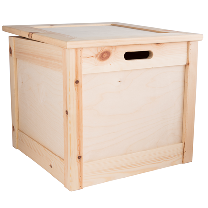 Image of Large Pine Luxury Hamper Chest