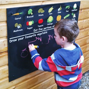 Image of Vegetable Printed Chalkboard