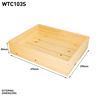 Image of Small Rustic Wooden Seeder Tray - Pack of 6