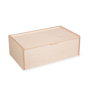 Image of Medium Integral Hinged Wooden Box