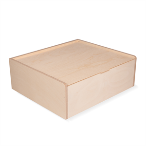 Image of Large Integral Hinged Wooden Box