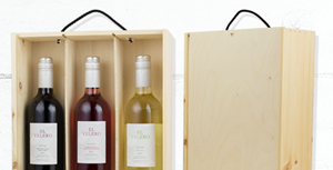 Three Bottle Sliding Wine Box