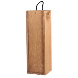 Image of Gold Cedar - 1 Bottle Sliding Lid Wine Box