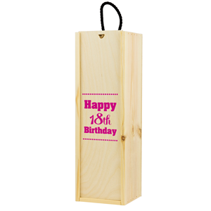 Image of 18th Birthday Printed Wine Box