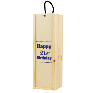 Image of 21st Birthday Printed Wine Box