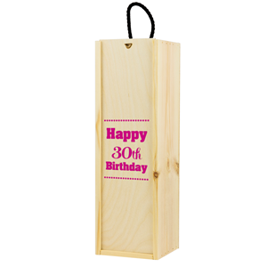 Image of 30th Birthday Printed Wine Box