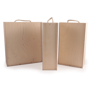 Image of Plywood Wine Boxes