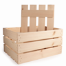 Image of Large Rustic Wooden Crate Drop on Lid