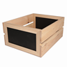 Image of 2 Slat Crates with Chalkboard Ends