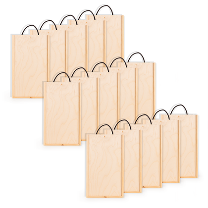 Image of Pack of 15 - 2 Bottle Wine Boxes